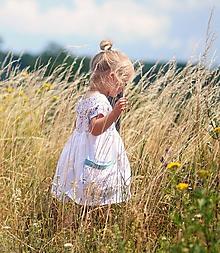 Detské oblečenie - Lněné šatičky - Luční kvítí - 9705670_