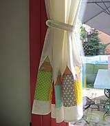 Úžitkový textil - Záves s ceruzkami - 9704859_