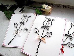 "Papiernictvo - Pohľadnica z drôtu (14,5 x 11 cm ""S"") - 9705088_"