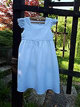 Detské oblečenie - Ľanové šatôčky Liliana - 9704082_