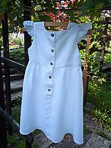 Detské oblečenie - Ľanové šatôčky Liliana - 9704083_