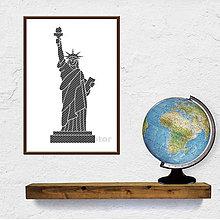 Grafika - Digitálna grafika svetové dedičstvo UNESCO (Socha slobody pásikavá) - 9704369_