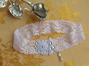Iné šperky - Podväzok s kvetinkou II - 9705150_