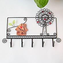 Nábytok - vešiak domček a strom (tmavý domček) - 9708651_