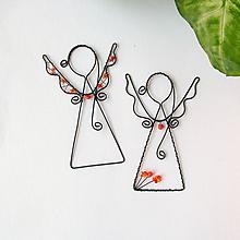 Dekorácie - anjelik malý (Oranžová) - 9708866_