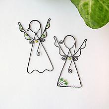 Dekorácie - anjelik malý (Zelená) - 9708875_
