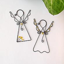 Dekorácie - anjelik malý (Žltá) - 9708878_