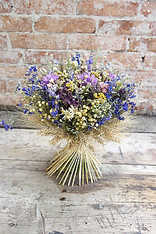 Dekorácie - Kytica zo sušených kvetov - 9709621_