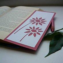 Papiernictvo - Dva ružové kvietky... - 9707358_