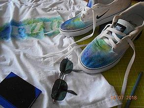 Obuv - Maľované tenisky a tričulo