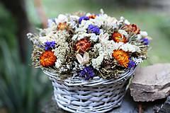 Dekorácie - Aranžmán zo sušených kvetov - 9707494_