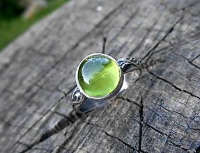 Prstene - Strieborný Prsteň s Olivínom - 9707030_