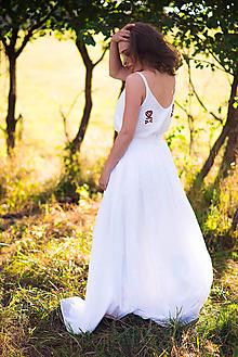 Sukne - Svadobná madeirová sukňa - 9706804_