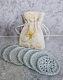 """Úžitkový textil - Bavlnené odličovacie tampóny """"S ÚCTOU K ZEMI"""" - 9707639_"""