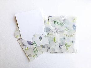 Papier - polopriehľadná papierová obálka Lístočky - 9706861_