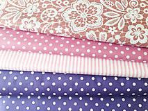 Textil - fialové bodky, 100 % bavlna Čechy, šírka 140 cm - 9706875_