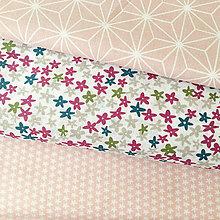 Textil - fialové kvietky, 100 % bavlna Čechy, šírka 140 cm - 9707459_