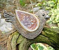 Dekorácie - keramický vtáčik na zavesenie - 9708812_
