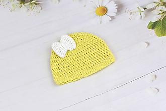 Detské čiapky - Žlto-biela letná čiapka EXTRA FINE - 9707660_