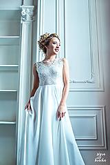 Šaty - Svadobné šaty z vyšívanej krajky a tylovou sukňou - 9706807_