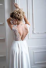 Šaty - Svadobné šaty z vyšívanej krajky a tylovou sukňou - 9706808_
