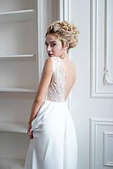 Šaty - Svadobné šaty z vyšívanej krajky a tylovou sukňou - 9706809_