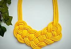 Náhrdelníky - Uzlový náhrdelník - Slnečnice - 9708980_