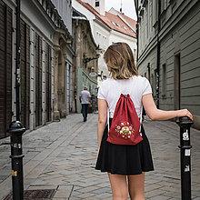 Batohy - Ručne maľovaný ruksačik - 9709573_