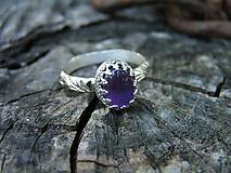 Prstene - Strieborny prsteň Ag925 Ametyst - 9708105_