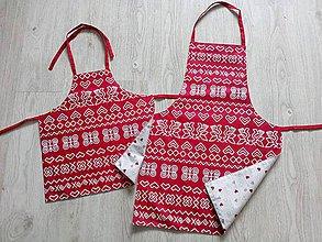 Iné oblečenie - Kuchynské obojstranné zástery, sada (čičmanské vzory) - 9706972_
