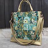 Veľké tašky - Kabelka zlatá - 9709482_