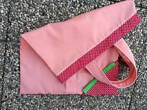 Nákupné tašky - Skladacia ekologická nákupná taška Jahoda. - 9707833_