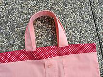Nákupné tašky - Skladacia ekologická nákupná taška Jahoda. - 9707837_