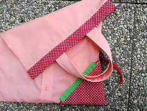 Nákupné tašky - Skladacia ekologická nákupná taška Jahoda. - 9707841_
