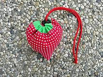 Nákupné tašky - Skladacia ekologická nákupná taška Jahoda. - 9707846_