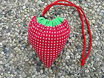 Nákupné tašky - Skladacia ekologická nákupná taška Jahoda. - 9707865_