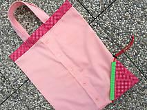 Nákupné tašky - Skladacia ekologická nákupná taška Jahoda. - 9707867_