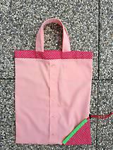 Nákupné tašky - Skladacia ekologická nákupná taška Jahoda. - 9707891_