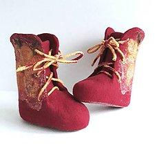 Topánočky - Plstené čižmičky - 9709040_