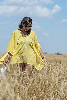 Iné oblečenie - Žlté pareo - 9709455_