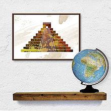 Grafika - Digitálna grafika svetové dedičstvo UNESCO - Chichen Itza fľakaté - 9709617_