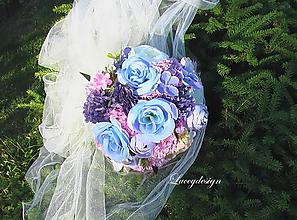 Kytice pre nevestu - svadobná kytica....modré nebo - 9709623_