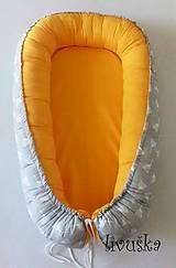 Textil - Hniezdo pre bábätko žlto-šedé - 9712879_