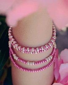 Náramky - Pink queen - set náramkov - 9710695_