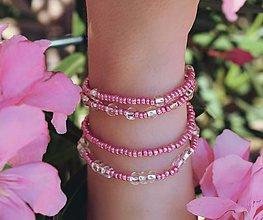 Náramky - Pink princess - set náramkov - 9710719_