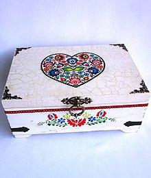 Krabičky - Truhlica so srdcom- s venovaním - 9712476_