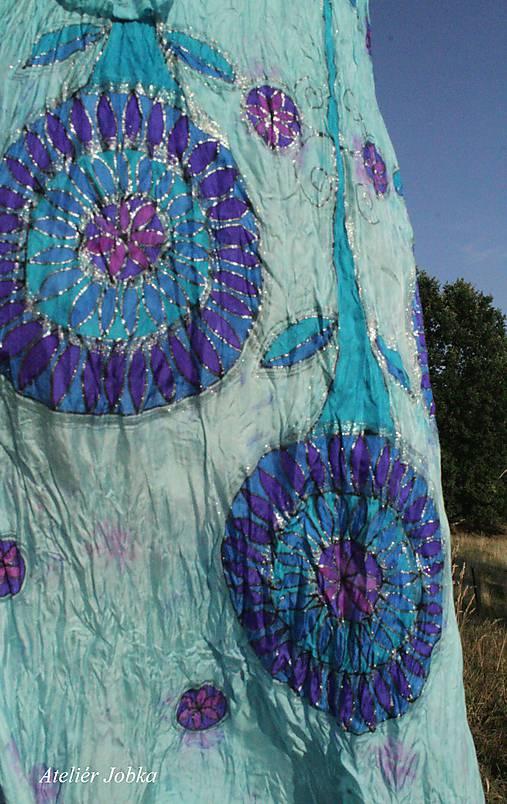 Hedvábné šaty Léto na břehu jezera   jobka - SAShE.sk - Handmade Šaty ba9a70c3b2