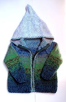 Detské oblečenie - Svetrík z modrých a zelených tónov - 9711202  a6509050661