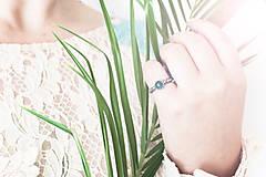 Prstene - Strieborný prsteň so silimanitom - Smaragdové nebíčko - 9710209_