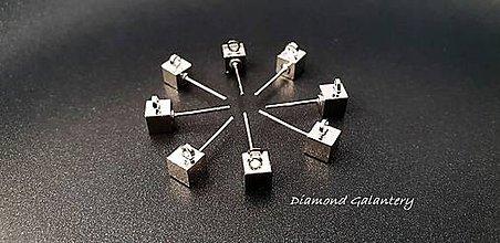 Komponenty - Základ na náušnice - 5x9 mm - cena za pár - striebro - 9711537  bda1345921f